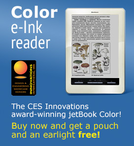 The CES 2012 Innovations award-winning jetBook Color!
