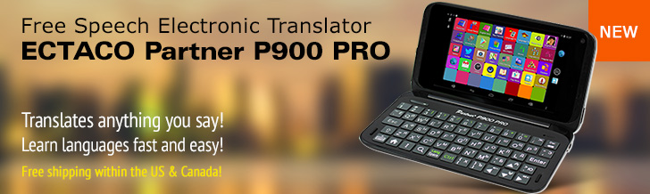 ECTACO Partner 900 PRO - Voice translator and Language