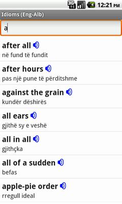 Ectaco Englisch <-> Albanisch Vertonte Idiome für Android