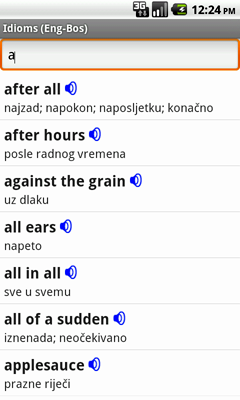 English-Bosnian Talking Idioms for Android
