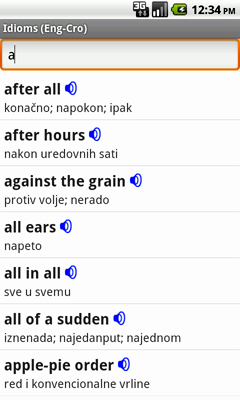 English-Croatian Talking Idioms for Android