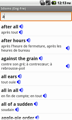 English-French Talking Idioms for Android