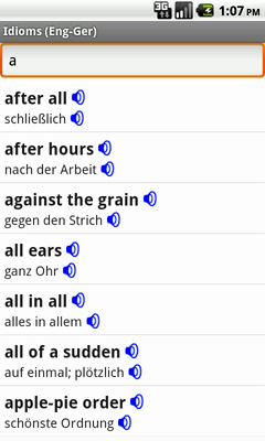 English-German Talking Idioms for Android
