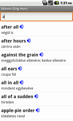 English-Hungarian Talking Idioms for Android