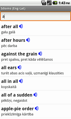 English-Latvian Talking Idioms for Android