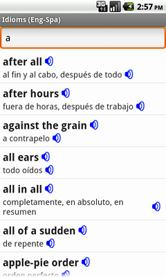 English-Spanish Talking Idioms for Android
