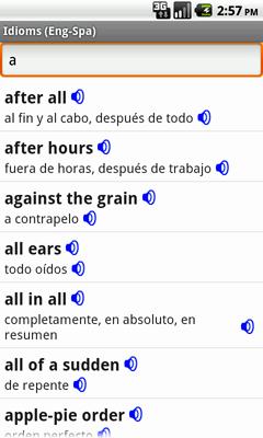 Ectaco Englisch <-> Spanisch Vertonte Idiome für Android