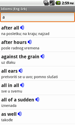English-Serbian Talking Idioms for Android