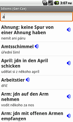 German-Czech Talking Idioms for Android