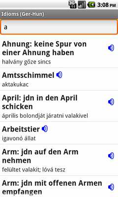 German-Hungarian Talking Idioms for Android