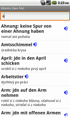German-Slovak Talking Idioms for Android