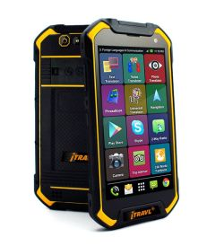 ECTACO iTRAVL 2 English <-> Latvian 2-way Voice Translator and Rugged World Travel Smartphone