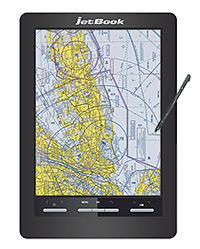 Electronic Flight Bag � jetBook Color eReader with anti-glare color eInk screen, maps & aeronautical resources. Black