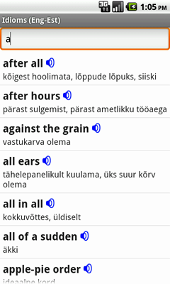 English-Estonian Talking Idioms for Android