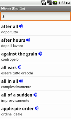 English-Italian Talking Idioms for Android