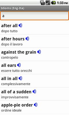 Ectaco Englisch <-> Italienisch Vertonte Idiome für Android
