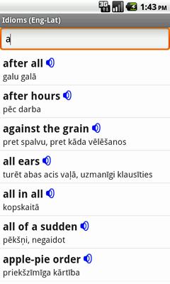 Ectaco Englisch <-> Lettisch Vertonte Idiome für Android