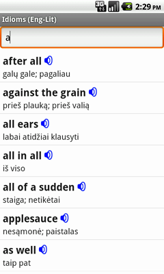 English-Lithuanian Talking Idioms for Android
