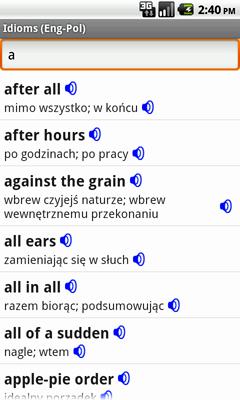 English-Polish Talking Idioms for Android