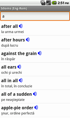 English-Romanian Talking Idioms for Android