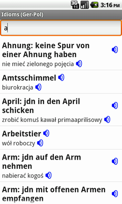 German-Polish Talking Idioms for Android