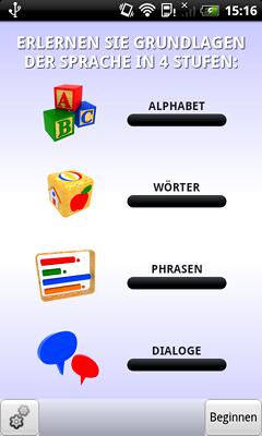 Tschechisch Lernen - Language Teacher für Deutsch Muttersprachler für Android